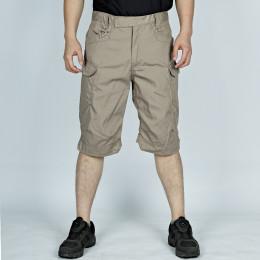 Summer outdoor sports men's multi pocket tactics short pants male climbing riding training army camo tactical cargo shorts