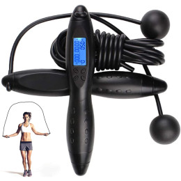 Digital Jump Rope,Adjustable Calorie Counter Jump Skipping Ropes