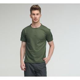 Fan Tactical Short Sleeve T-shirt Mens Summer Outdoor Quick Dry Hiking Sports Training T Shirt
