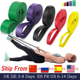 208cm stretch resistance band exercise expander elastic band pull up assist bands for fitness training pilates workout at home