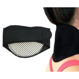 Tourmaline self-heating magnetic therapy neck guard