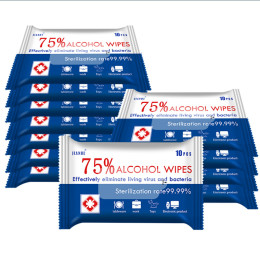Alcohol wipes 75% alcohol disinfection wet wipes travel sterilization disposable disinfectant wipe