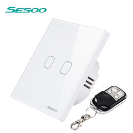 SESOO Standard Wireless Remote Control Wall Touch Switch
