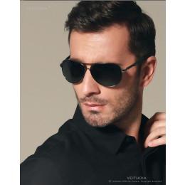 VEITHDIA Aluminum Aviator Polarized Men Sunglasses