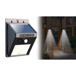 Outdoor solar wall lamp with 20LED light and motion sensor - no wires needed!