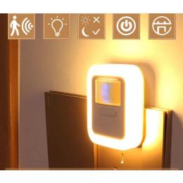 led sound and light sensor night sensor light bedroom home staircase closet aisle