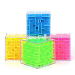 7.5cm 3D Maze Magic Cube Six-sided Puzzle Rolling Ball Game Cubos Maze Toys