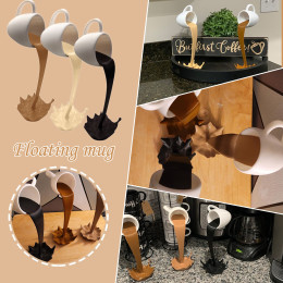 3D three-dimensional coffee cup decoration