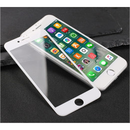 3D Curved Coated Carbon Fiber  Tempered Glass For iPhone