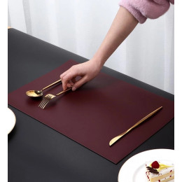 PU Leather Placemat Double Side Dining Table Mat Waterproof