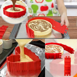 Nonstick 4Pcs Set Silicone DIY Cake Mold