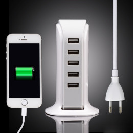 5 Ports Multiple Wall USB Charger