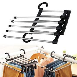 5 in 1 retractable folding pants hangers