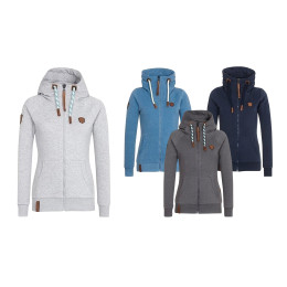 Fleece High Collar Hooded Coat