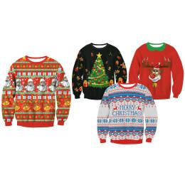 Unisex 3D Pattern Printing Christmas Sweatshirt