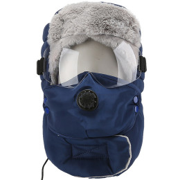 Outdoor riding ski windproof cold ear protection ear heating cap Warm fleece Lei Feng hat