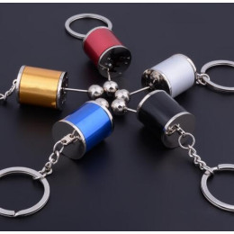 Metal Anti Stress Fob Keyring Car 6 Speed Gearbox Gear Fidget Toy