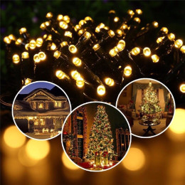 LED Solar Light String Flower Lights