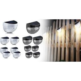 2pcs Garden wall lamp Solar semicircular wall light, fence light, staircase light