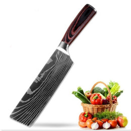 7inch Chef knife Stainless Steel Imitate Damascus Pattern Kitchen Knife