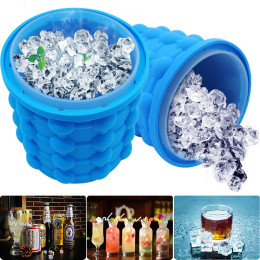 Silicone Ice Bucket Space Saving Ice Cube Maker