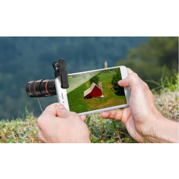 8x zoom adjustment mobile phone telescope