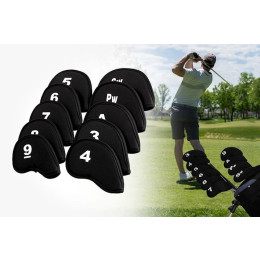 Simple golf iron cover is light and prevents collision between clubs