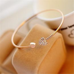 Adjustable Crystal Double Heart Bracelet