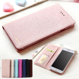 Luxury Wallet Silk Leather Magnetic Flip Case Cover For Apple iPhone 7 & 6s Plus