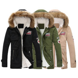 Warm Unisex Thick Fur Hooded Parka
