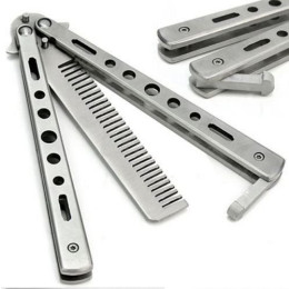 Comb that looks like a butterfly knife