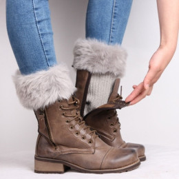 Warm Ankle fur Boot Cuffs