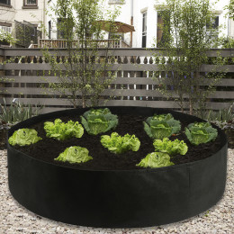 Fabric Raised Garden Bed Round Planting Container Grow Bags Breathable Felt Fabric Planter