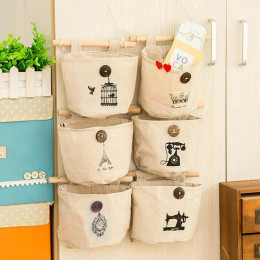 Cotton Pocket Wall Hanging Storage Bags