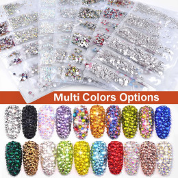 Flatback Glass Nail Rhinestone Decoration Stones Shiny Gems Manicure Accessories