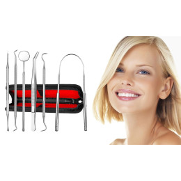 Oral Care Stainless Steel Hygiene Tooth Dental Tool Kit