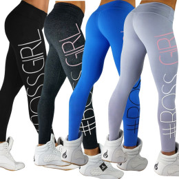 Women's Tight Hip Boss Printing Yoga Leggings