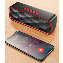 S211 portable outdoor Bluetooth speaker HD stereo bass column wireless sound box TF card U disk MP3 player speakers