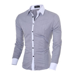 Men Slim Long Sleeve Cotton Shirt Tops Undershirt for all occasions