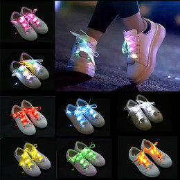 Flashing Light-emitting LED 8 Colors Luminous Shoelaces Hip Hop Party Club Dance Ghost Step Flashing Shoelace