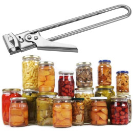 Stainless steel adjustable can opener