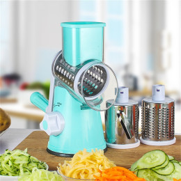 Round Rotary Cheese Grater Vegetable Slicer Cauliflower Nut Chopper