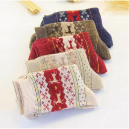 5Pair Women's warm christmas gift sock