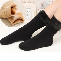 Women Thicken Thermal Soft Casual Solid Winter Socks