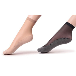 6pairs Women's Silky Socks with Reinforced Cotton Soles