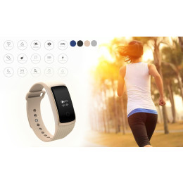 A09 Smart Bracelet Heart Rate Fitness Tracker
