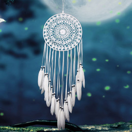 Dream Catcher - Handmade Traditional Feather Wall Hanging Home Decoration