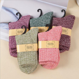 5Pcs Soft and cozy Winter Wool Socks
