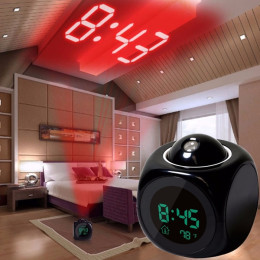 Home Multifunction LCD Digital Projection Voice Talking Alarm Clock