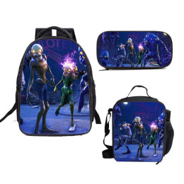 Fortnite Backpack Pencil Case Lunch Bags Back to School Set 3 In 1